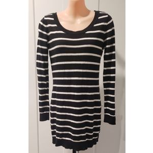 Garage Striped Scoop Neck Sweater Dress